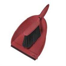 Greener Cleaner Dustpan & Brush Red