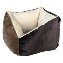Trixie Gordie Bed For Dogs, 42 x 42 Cm, Brown/beige - Pet Cat Puppy Dog Cute -  pet cat puppy dog cute cushion bed polyester fleece filling trixie