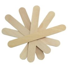 "JOVANA Large Wide Wood Wax Spatula Applicator 6"" x 3/4"" 100 pack"