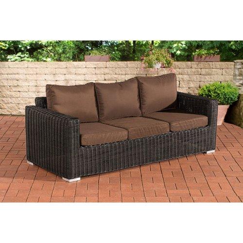 3 seater sofa Bilbao / Madeira Terra Brown