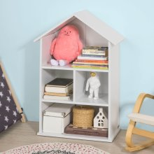 SoBuy® KMB02-W, Children Kids Doll House Bookcase Storage Display Shelving