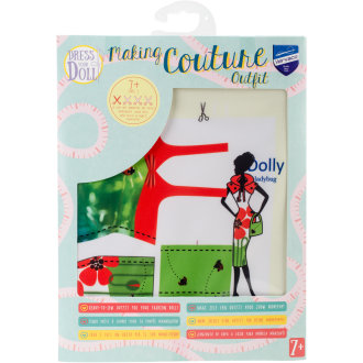 Dress Your Doll Making Couture Outfit Set-Dolly Ladybug