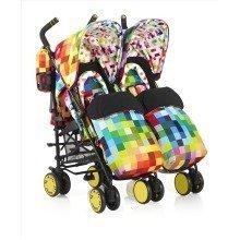 Cosatto Supa Dupa Twin Stroller Pixelate