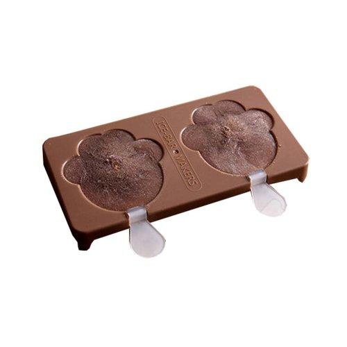 Environmentally Friendly Creative Popsicle Mold Ice Cream Mold, Brown Cat Claw