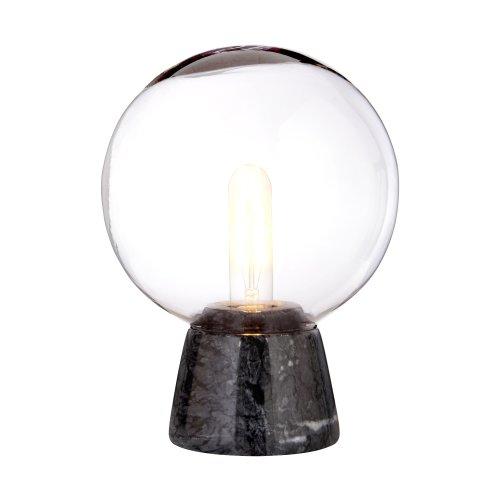 Lamonte Globe Lamp With Black Marble Base