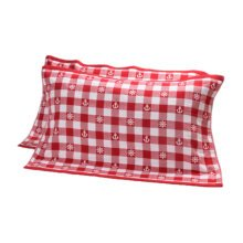 2 PCS Cotton Three Layer Thicken Pillow Towel Soft Pillow Blanket Protector Best Skin Care, Red A01