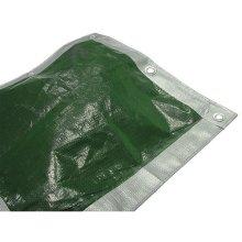Faithfull FAITARP129 Tarpaulin Green / Silver 3.6m x 2.7m (12ft x 9ft)