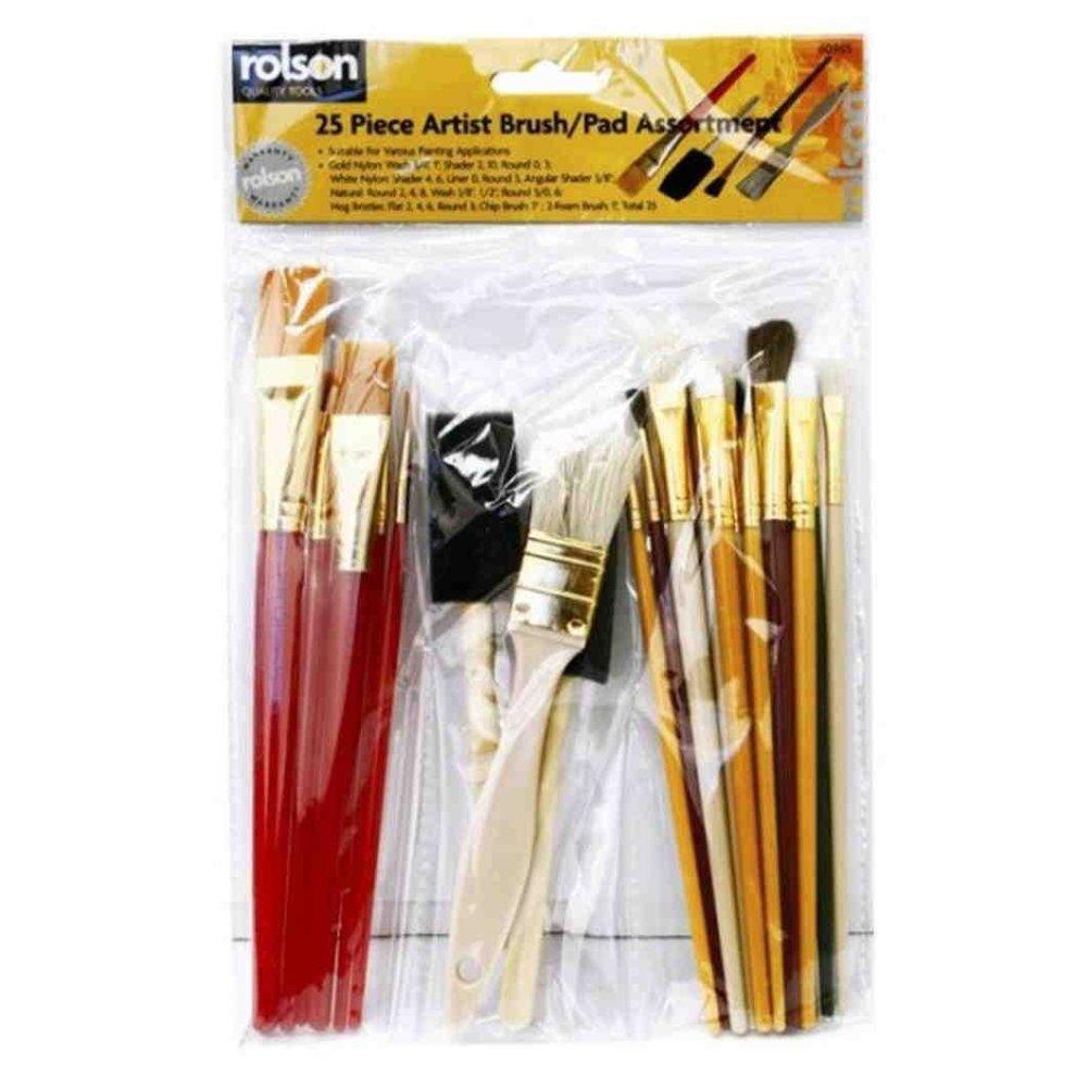 Painting Supplies Pkg Diligent Taklon Craft Brush Set-4