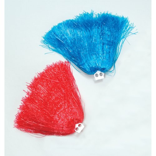 Jumbo Red Usa Cheerleader's Pom Pom - Cheerleader Fancy Dress Accessory White -  pom jumbo cheerleader fancy dress accessory red white blue pink usa