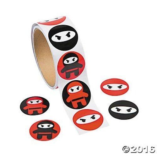 Ninja Sticker Roll - 100 stickers per roll