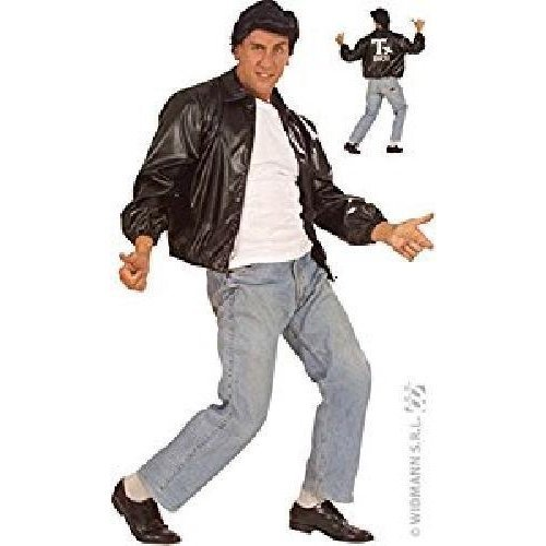 XL 50s Mens Black Jacket Leatherlook Costume Extra Large For Grease 50s Rock N - 50s xl mens black jacket leatherlook costume extra large grease rock  sc 1 st  OnBuy & XL 50s Mens Black Jacket Leatherlook Costume Extra Large For Grease ...
