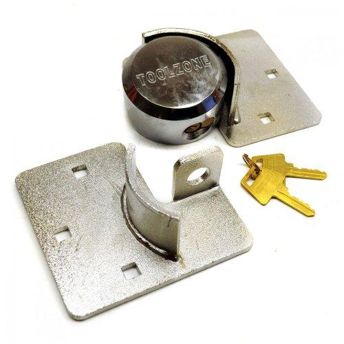 Van Garage Shed Door Security Padlock Hasp Set Lock Heavy Duty 73mm Steel TE150