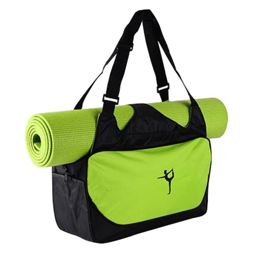 Multifunction Yoga Mat Tote Bag: Lightweight, Durable, Breathable Pouch[Green]