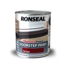 Ronseal Diamond Hard Doorstep Paint 750ml - Tile Red