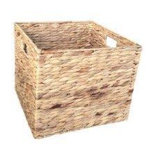Small Water Hyacinth Square Storage Basket