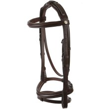 Jeffries Wembley Pro Flash Bridle with Nylon Lined Rubber Reins: Nut Brown: Full