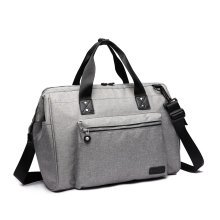 (Grey) KONO Baby Changing Holdall | Nappy Change Shoulder Bag