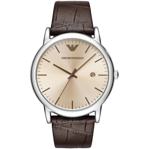 af259d23649e Emporio Armani Mens Gents Wrist Watch Brown Leather Strap Bronze Dial  AR11096 on OnBuy