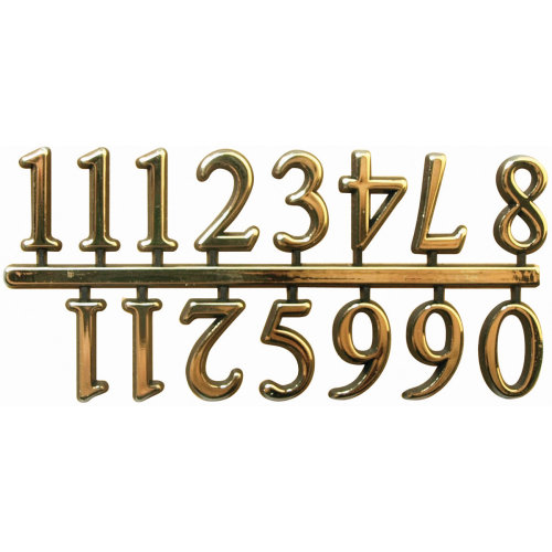 "Arabic Clock Numerals .625""-Gold"