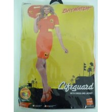Medium Ladies Dress & Jacket Baywatch Costume -  baywatch dress costume fancy lifeguard beach ladies 90s womens licensed 80s outfit tv