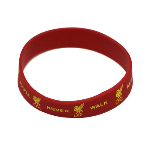 """Official Liverpool Fc """"ynwa"""" Red Rubber Wristband - Silicone Football Club -  liverpool wristband silicone fc football official red club rubber"""