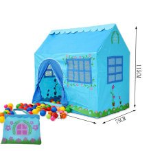 Blue House Shape Kids Play Tents Indoor/Outdoor Play Tent (Under 6 Years Old)