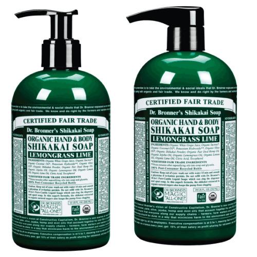 Dr Bronner Org Shikakai Lemongrass Hand Soap 355ml