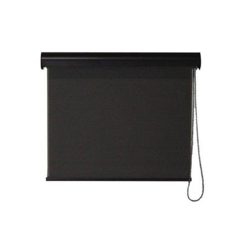 Keystone Fabrics I40.27.3008 Interior Corded Sunshade with Valance, Dark Brown - 27 x 72 in.