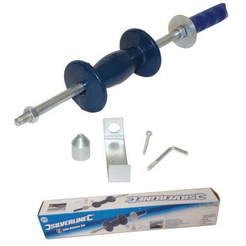 Sliding Slide Hammer Panel Dent Bearing Hub Gear Puller Kit Set Body Shop Tool