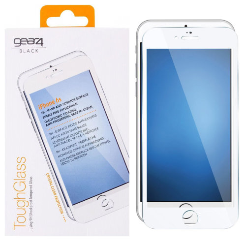WHITE TOUGHGLASS FOR IPHONE 6/6S/7/8 9H SHOCKPROOF TEMPERED GLASS BY GEAR4