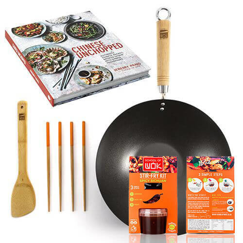 School Of Wok Gift Set With FREE School of Wok Sichuan Stir Fry Kit