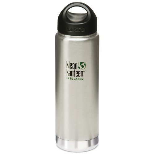 Klean Kanteen Wide Mouth Insulated Water Bottle with Loop Cap (20-Ounce)