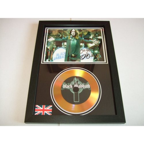 BLACK SABBATH  SIGNED GOLD DISC DISPLAY