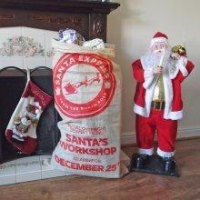 Santa Express Large 60cm x 110cm Vintage Style Christmas Gift Sack Xmas Stocking traditional