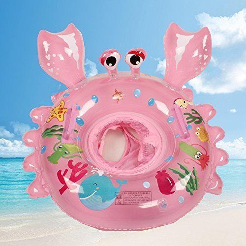 bestllin Swimming Ring Carton Crabs Baby Pool Float Ring Seat Boat with Swim Safety Handles Kids Toddler with Environmentally Friendly Materials...