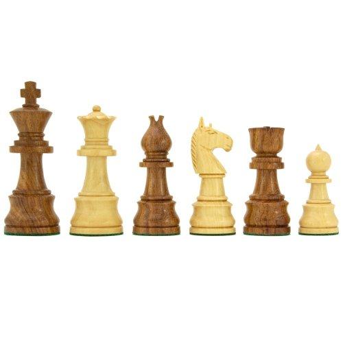 Opus Series Sheesham and Boxwood Chessmen 3.75 Inches