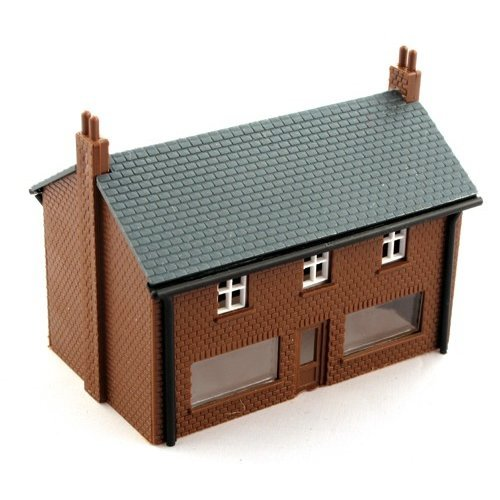 Brown brick shop - Kestrel Design GMKD02 - N building plastic kit - free post F1