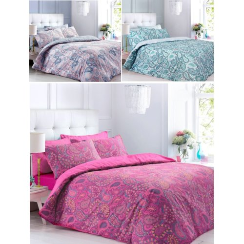 Paisley Floral Printed Duvet Cover Fine Bedding Set All sizes
