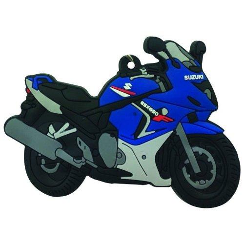 Suzuki GSX 650 F rubber key ring motor bike cycle gift keyring chain