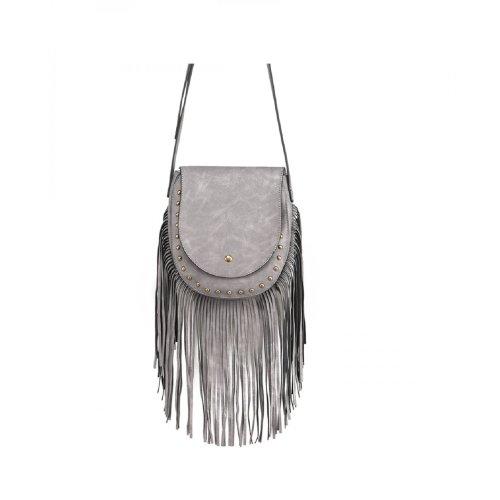 949fbe84e2 Women Cross Body Messenger Tassel Bag Ladies Designer Suede Shoulder Handbag  on OnBuy