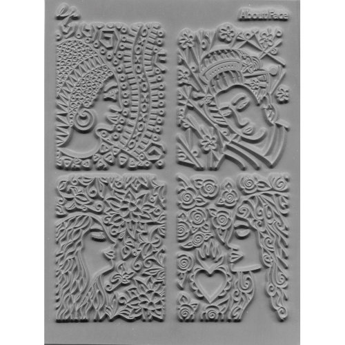 """Lisa Pavelka Individual Texture Stamp 4.25""""X5.5""""-About Face"""