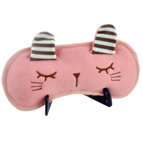 Cartoon Sleeping Eye Mask Sleep Mask Eye-shade Aid-sleeping Cute Rabbit Pink