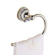 Ornate Polished Chrome Towel HangerTowel Holder Towel Rings, G