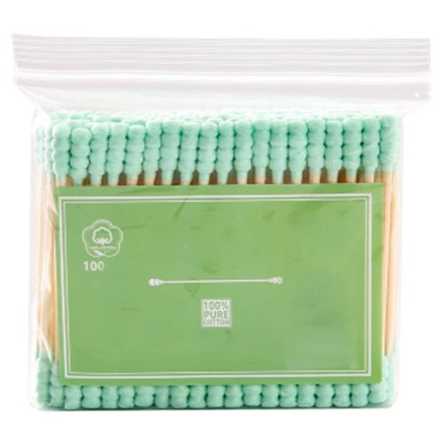 100 PCS Safety Cotton Swabs Double Tipped Cotton Buds Multipurpose Cleaning Sticks #28