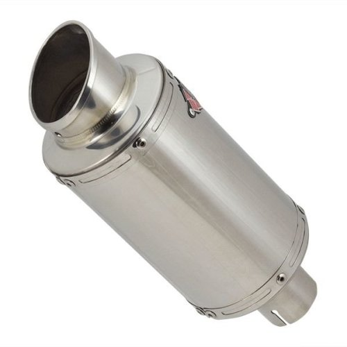 Lextek YP4 Stainless Steel Stubby Exhaust Silencer 51mm End Can