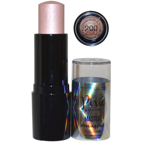 Maybelline The Pixie Collection Master Strobing Stick Highlighter 9g Medium Nude Glow #200