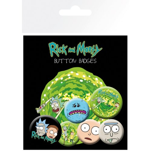 Rick and Morty Characters Badge Pack
