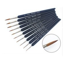 10 Pics Paintbrushes Detail Painting Brush Sets Painting Tools (000-7)