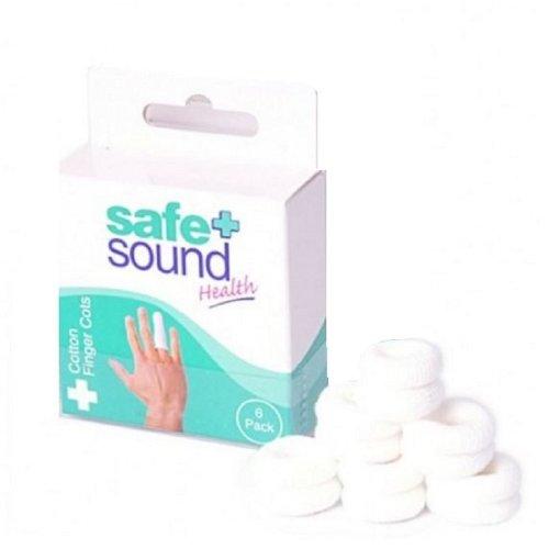 Safe & Sound Cotton Finger Cots 6s