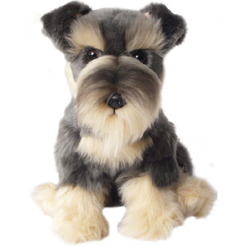 "Soft and cuddly 12"" toy Schnauzer"